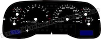 2001-2004 Dodge Dakota Edge Style Gauge Face KMH