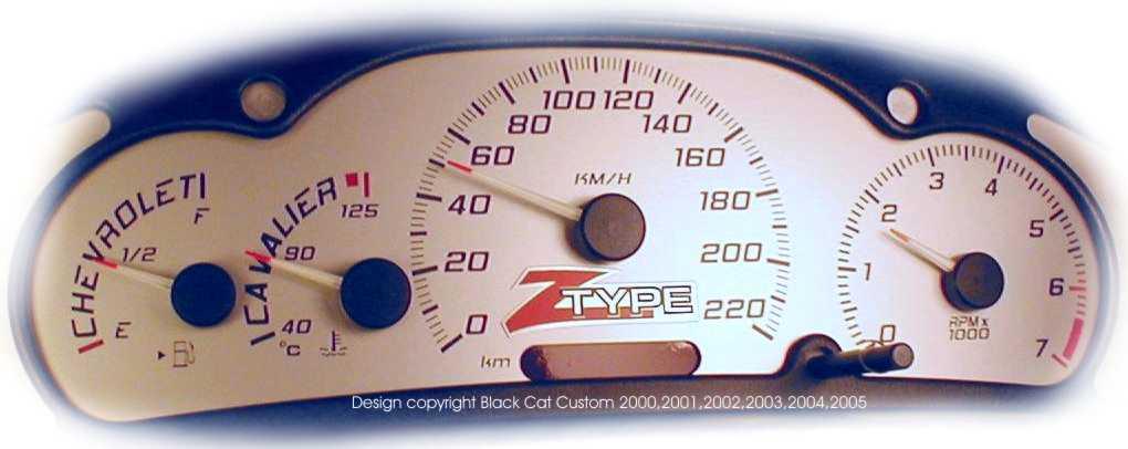 Cav Z Type W on 02 Chevy Cavalier In Blue