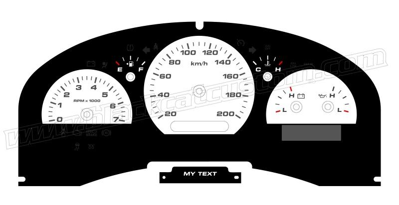 Black Cat Custom Automotive - Ford F150 Gauge Faces in KMH