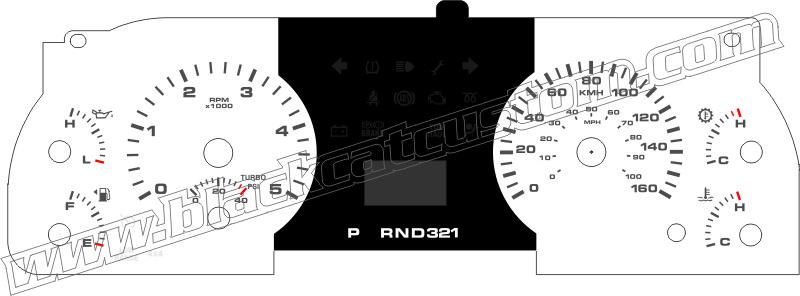 2005-2007 f250 f350 diesel gauge face
