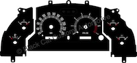 94-98 Mustang GT Retro Style Gauge Face KMH