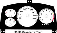 95-98 Cavalier with Tach Gauge Face