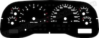 1998-2000 Dodge Durango Gauge Face KMH