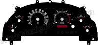 99-04 Mustang GT Retro Style Gauge Face KMH