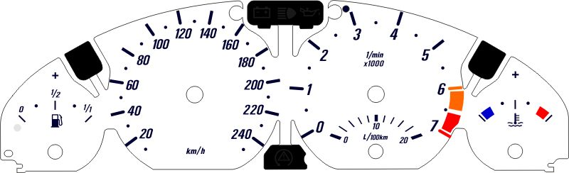 E46 kmh black cat custom automotive bmw e46 gauge faces in kmh Gauge Chart at alyssarenee.co