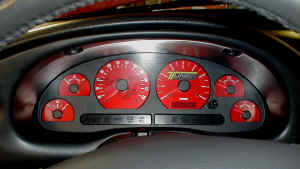 Mustang Custom Tuner Transformation Gauge Face