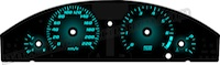 Chrysler 300 Gradient Backlight Gauge Face KMH