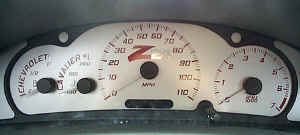 Cavalier Custom Gauge Face