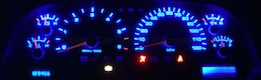 Ram Truck Custom Gauge Face with Blue LED