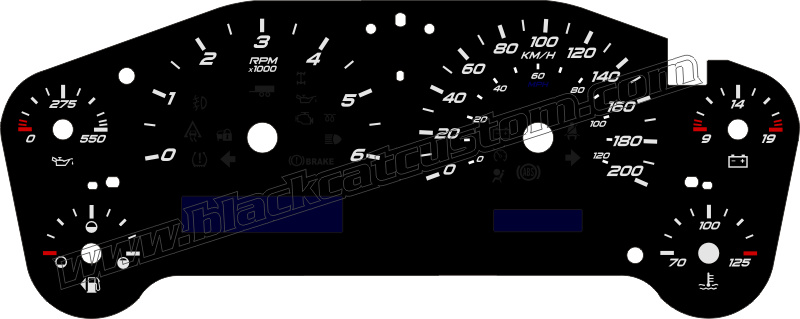 black cat custom automotive gm full size truck gauge faces in kmh ck1500 sierra. Black Bedroom Furniture Sets. Home Design Ideas